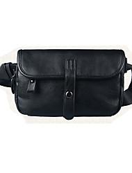 Masculino Couro Ecológico Casual Sling sacos de ombro