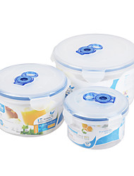 Microwave Safe 3 in 1 Set Vacuum Round Container Set