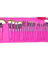 24 Blush Brush / Eyeshadow Brush / Brow Brush / Eyeliner Brush Professional / Travel / Full Coverage Plastic