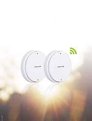 Battery-Free Self-Powered Double Remote Control  Wireless Light Wall Switch – White