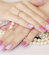 Powder Color Purple Jump Nail Stickers