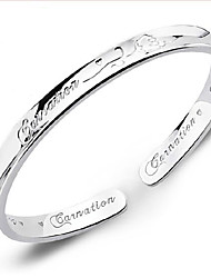Bracelet Bracelet Argent sterling Anniversaire / Fiançailles / Mariage / Soirée / Quotidien / Décontracté Bijoux Cadeau A Motifs / Argent,