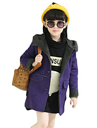 Girl's Casual/Daily Solid BlouseCotton Winter Pink / Purple / Red