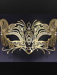 Women's Halloween party Carnival laser cutting metal Venice fox mask3006A3