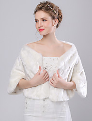 Women's Wrap Shrugs Faux Fur / Imitation Cashmere Wedding Feathers / fur
