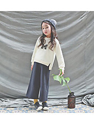 Girl's Casual/Daily Print Clothing SetCotton Winter / Fall Beige