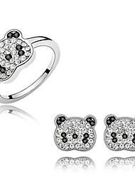 Schmuckset Kristall Modisch Weiß Ohrringe Ringe Für Alltag 1 Set Hochzeitsgeschenke