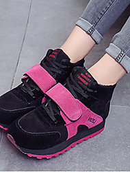 Women's Sneakers Platform PU Casual Platform Black and White / Fuchsia / Burgundy