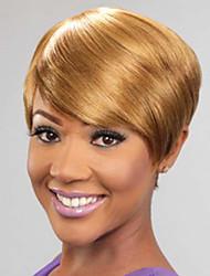 court miel cheveux couleur blonde perruques synthétiques droites pour les femmes