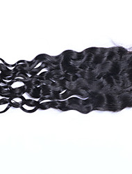 Loose Curly Brazilian Human Hair Lace Closure with Baby Hair 3.5x4 Inches Three/Middle/Free Part Curly Human Hair Closure