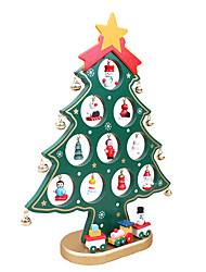 XMAS Gift 1pc  Table XMAS Trees Decoration Wood Christmas Tree With Ornament For