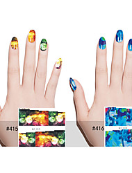 6pcs Nail Art Sticker  Water Transfer Decals Makeup Cosmetic Nail Art Design