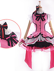 Inspired by Love Live Honoka Ksaka Anime Cosplay Costumes Cosplay Suits / Dresses Patchwork Pink Short SleeveDress / Headpiece / Gloves