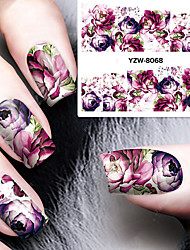 1 Sheet DIY Decals Nails Art Water Transfer Printing Stickers Accessories For Manicure Salon YZW-8068