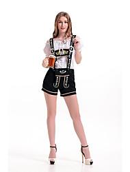 Cosplay Costumes Oktoberfest/Beer Movie Cosplay Black Solid Top / Pants Oktoberfest Polyester