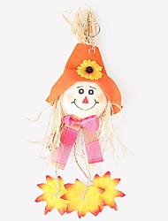 1pc halloween decoração do partido presente ornamentos novidade terroristas vestir bolha porta pingente de abóbora cor aleatória