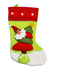 Christmas Decorations / Christmas Toys Holiday Supplies Santa Suits / Elk / Snowman Textile Red / Green All