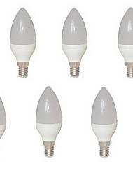 6pcs e14 8w 15 cms 2835 680 lm chaud c35 led blanche bougies ac 85-265 v