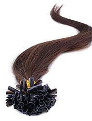 100% de extensões de cabelo de fusão remy brasileiro cápsulas cabelo ponta do prego de fusão da queratina reto de seda u ponta