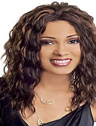 longs cheveux couleur auburn perruques synthétiques ondulées pour les femmes