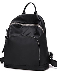 Women Canvas / Nylon Casual Backpack Black