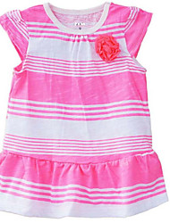 Girl's Casual/Daily Striped Overall & JumpsuitCotton Spring / Fall Pink / Yellow