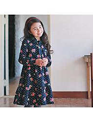 Robe Fille de Points Polka Décontracté / Quotidien Coton Hiver / Automne Bleu