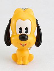 bs-114 cão pequeno amarelo e pequeno chaveiro cão cinzento levou luz pingente de som emitindo