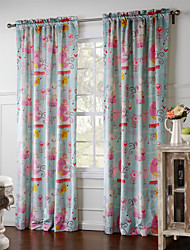 One Panel Curtain Designer , Animal Living Room Polyester Material Curtains Drapes Home Decoration For Window