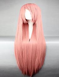 Bestnote synthetischen vocaloid luka populär Rauch rosa lange gerade Cosplay Perücke