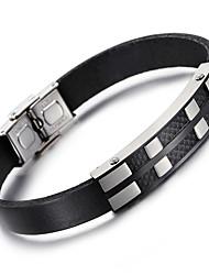 Kalen® New  Leather Bracelets Fashion 316L Stainless Steel Charm Bracelets Men's Fashion Accessories Cool Gifts