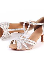 Customizable Women's Dance Shoes Sparkling Glitter Sparkling Glitter Latin / Jazz / Modern / Swing Shoes / Salsa Sandals Low HeelBeginner