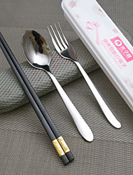 3-Piece Slap-Up Western Restaurant The Kitchen Utensils Stainless Steel Dinner Fork Chopsticks Spoons  Forks Knives