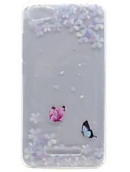 Pour wiko lenny 3 lenny 2 motif de fleur papillon haute perméabilité tpu matériel téléphone coque pour wiko lenny 2 lenny 3 pulp fab 4g
