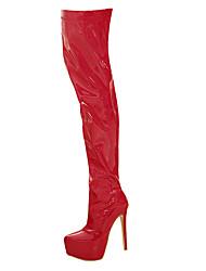 Women's Boots Winter Platform PU Party & Evening / Dress Stiletto Heel Zipper Black / Red / White Others