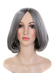 Hot Selling Grey Color Popular Wave Synthetic Wigs