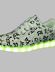 Unisexe-Extérieure / Décontracté / Sport-Blanc-Talon Plat-Confort-Sneakers-Polyuréthane