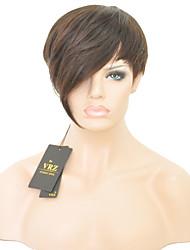 courte capless de cheveux humains perruques courtes perruques droites hiar bresilien pour les femmes noires couleur 1b