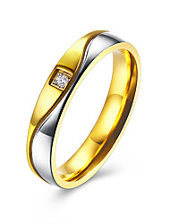 Gold Plated Silver Color Wave 4mm/6mm Band Stainless Steel Wedding Rings For Couples Fashion Womens Ring