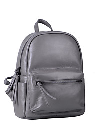 Women Backpack Cowhide All Seasons Sports Casual Office & Career Bucket Zipper Green Dark Red Dark Gray Light gray Royal Blue