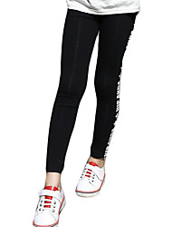 Girl's Casual/Daily Galaxy Pants / LeggingsCotton / Spandex Winter Black / Gray