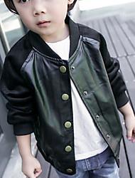 Boy's Casual/Daily Animal Print Jacket & CoatPU Spring / Fall Black