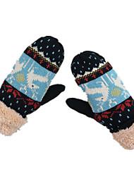 теплые перчатки (черные)