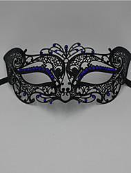Lady Little Fox Rhine stone laser cutting Halloween party metal mask2010C1