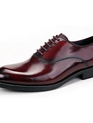 Men's Oxfords Brogue Comfort Genuine Leather Wedding/Office&Career/Party&Evening/Casual Flat Heel