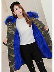 Sign Europe station 2016 Korean yards camouflage fur coat lamb's wool jacket female tide