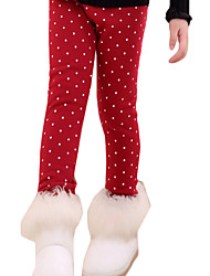 Girl's Casual/Daily Polka Dot Leggings,Others Winter Blue / Red