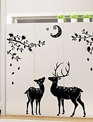 Animaux / Nature morte / Vacances Stickers muraux Stickers avion / Miroirs Muraux Autocollants Stickers muraux décoratifs,pvc Matériel