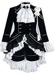 Cosplay Costumes Movie/TV Theme Costumes Movie Cosplay White / Black Patchwork Dress Halloween Female Polyester