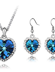 Thousands of colors   Jewelry Necklaces / Earrings Jewelry set Crystal 1set Women-9-1-1-2122-142
